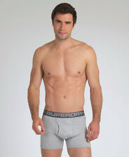 New Mens Superdry Sport Boxers Grey Marl