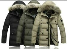 Christmas sales promotion Mens Hooded Parka Jacket WINTER WARM Duck Down Coat