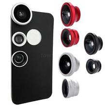 3-in-1 Fisheye+Wide Angle+ 10X Macro Phone Camera Lens with Case for iPhone 5 5S