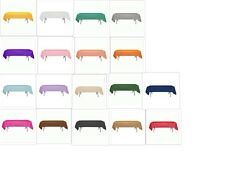 "Solid Colors 54"" x 108"" Rectangular Plastic Tablecloths Tablecovers Table Cloths"