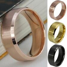 Mens Stainless Steel Ring Band Titanium Silver Black Gold 5 to 14 Wedding Ring