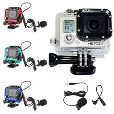 Skeleton Housing Case Open Side Wire Connectable + Mic for GoPro Hero 3 3+