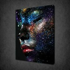 IMAGE OF GLITTER PORTRAIT OF FEMALE CANVAS PRINT PICTURE WALL ART FREE UK P&P