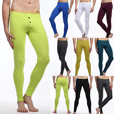 Sexy Muscle Fit Leggings Men's Thermal Long Johns Underwear Pants Trousers S- XL