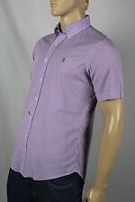 Ralph Lauren Purple Striped Custom Short Sleeved Dress Shirt Green Pony NWT