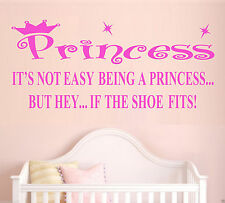 Princess Crown Wall Art Quote Sticker Bedroom Decal Any Colour Any Size Free P&P