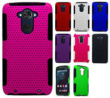 For Motorola Droid Turbo MESH Hybrid Silicone Rubber Skin Case Cover Accessory