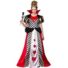 Fairytale Queen of Hearts Alice In Wonderland Fancy Dress Costume XS to XL