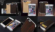 Top Fashion Luxury Genuine Leather Wood aviation aluminum Case Cover For