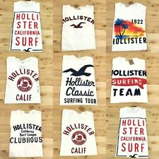 NWT HCO HOLLISTER BY Abercrombie Men's Muscle Slim Fit Round Neck Tees T-Shirt M