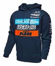 NEW TROY LEE DESIGNS TLD KTM LUCAS OIL TEAM FLEECE PULLOVER HOODY NAVY ALL SIZES