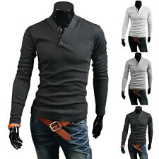 New Mens T-shirt Sweatshirt Casual Slim Pullover Exquisite Simple Cotton Blended