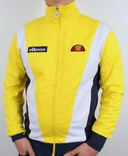 Ellesse Heritage Vilas Pro Badged Track Top in Yellow *EXCLUSIVE* SALE