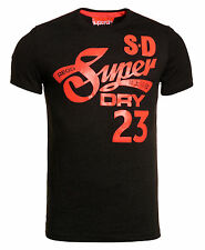 New Mens Superdry Factory Second Cali Tails T-Shirt Black Marl