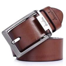 Men's Business Casual Dress Leather Belt Pin Buckle Waistband Black / Brown A70