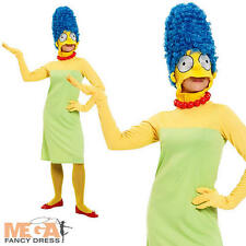 Marge Simpson Ladies Fancy Dress TV Cartoon Character 1980s The Simpsons Costume