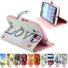 Magnetic Wallet Leather Flip Case Cover Stand For Various Samsung iPhone Models