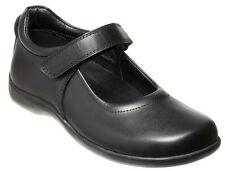 CLARKS ELISE GIRLS/KIDS/YOUTHS MARY JANE LEATHER VELCRO SCHOOL SHOES ON SALE NOW