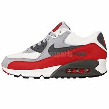 Nike Air Max 90 Essential White Grey Red 2015 NSW Mens Running Casual Shoes