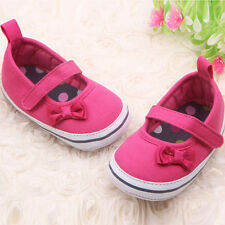 Sweet Mary Jane Shoes Infant Baby Girls Bowknot Soft Sole Prewalker Crib Shoes