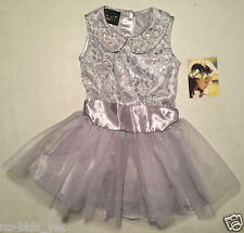 NWT Biscotti Girls' Special Occasion Formal Dress Sizes 4/5/6 Silver
