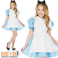 Alice in Wonderland Girls Fancy Dress Fairytale Book Week Kids Childs Costume