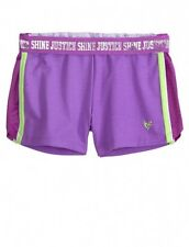 NWT Justice Girls Orchid Mesh Inset Athletic Track Shorts U Pick Size! NEW