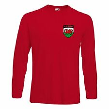 Wales Welsh Cymru Long Sleeve Football / Rugby Team Youth T-Shirt - All Sizes
