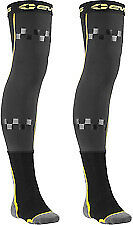 EVS FUSION ADULT MX MOTOCROSS KNEE BRACE LINER & SOCK COMBO  SOCKS BLACK / GREY