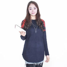 Casual Long Sleeve Knitwear Jumper Hot Knitted Pullover Tops Loose Women Sweater