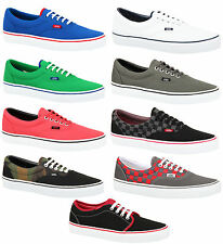 Vans lo top canvas casual lace era vulcanised black charcoal trainers shoes size