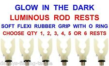 NGT GLOW IN DARK SOFT FLEXI LUMINOUS RUBBER ROD BUTT GRIP RESTS CARP MATCH FLOAT