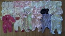 Lots of Girl's Size 3 M 0-3 Months One Piece Footed Pajama Sleeper Outfits SWEET