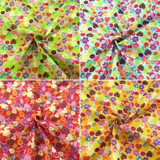 Ditsy Shapes Floral Circles Hearts & Hexagons Polycotton Fabric