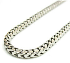 """14K White Gold Franco Italy Curb Box Mens Ladies Chain Necklace 3mm 20-30"""""""