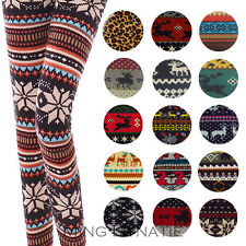 Hot Womens Colorful Nordic Snow Knitted Leggings THICKER & WARMER