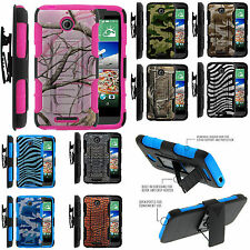 For HTC Desire 510 Armor Rugged Hard Stand Holster Combo Clip Case Belt Cover