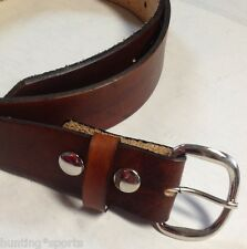 Handmade Men Western Work Holster Leather Belt USA | Choose Size and Color