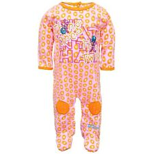 Dr. Seuss - Baby Girls Thing One Thing Two Newborn Infant Footed Pajamas