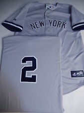 03BB-Y YOUTH Majestic New York Yankees DEREK JETER Baseball Jersey GRAY
