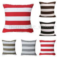 Canvas Striped Waist Throw Pillow Cases Sofa Back Car Cushion Cover Home Decor