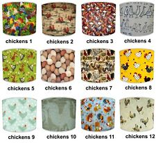 Vintage Retro Chicken Print Table Lamp Shades Or Ceiling Light Shades Lampshades