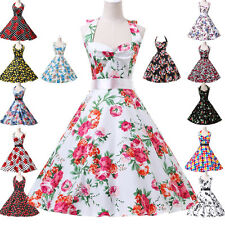 CHEAP Vintage 1950s Floral Swing Dress PLUS SIZE Rockabilly Pin Up Wedding Dress