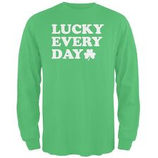 St. Patricks Day - Lucky Everyday Irish Green Adult Long Sleeve T-Shirt