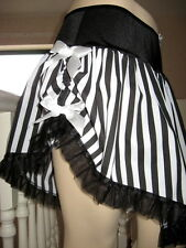 New Moulin Rouge Showgirl Burlesque Black White frilly Skirt Goth Rock All sizes