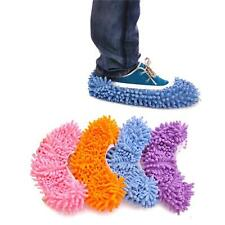 1 Pair Bathroom Office Kitchen Floor Cleaner Clean Broom Dust Mop Slippers Shoes