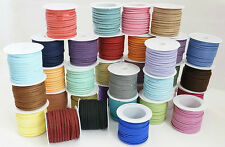 Suede Cord Leather Lace Stringing Craft Jewelry Making Supply 3mm- Choose Color.