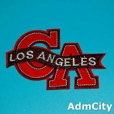 Los Angeles La Iron on Sew Patch Applique Badge Embroidered Biker Cute Punk
