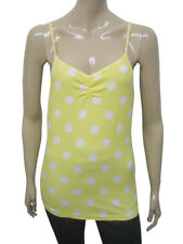 Womens Papaya Vest Camisole Strappy Top Yellow Polka Dot Size 8 to 14 Ladies A11