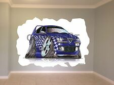 Huge Koolart Cartoon Alfa Romeo 156 Wall Sticker Poster Mural 2783